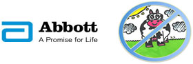 Abbott and Cow logos